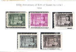 Ecuador PA 1954 500 Ann. Nascita Queen Isabella  Scott.C256/260 See Scans On Scott.Page - Ecuador