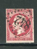 Y&T N°17B- Gros Chiffre 842 - 1853-1860 Napoleone III