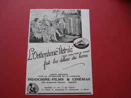 INDOCHINE PUB SUR PAPIER PHONOGRAPHE RCA INDOCHINE FILM - Advertising