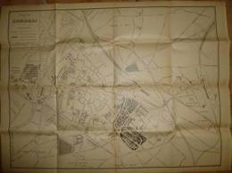 Ville De Cambrai - Stadtplan Ca. 1920 - 50cm X 66cm - Karten