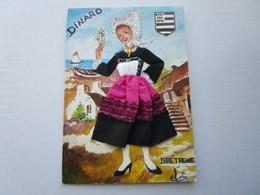 CP 35 DINARD - Bretagne - Robe Brodée Et  Coiffe Dentelle > Elsi  1985 - Dinard
