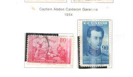 Ecuador PA 1954 Cap.Calderon   Scott.C270+271 See Scans On Scott.Page - Ecuador