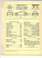 FICHE TECHNIQUE VOITURE TRIUMPH 2000 - Auto's