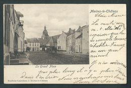 Merbes-le-Château. Grand'Place. Attelages. Voyagée En 1904. - Merbes-le-Château