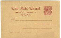 SPAGNA - INTERO POSTALE  - UPU U.P.U. ANNO 1889/92 - NON VIAGGIATO - 10 CENTIMOS - Interi Postali