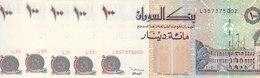 SUDAN 100 DINARS 1994  P-56 Lot X5 UNC Notes */* - Soudan