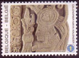 """BE 2012  -  N° 4194 XX - Calendrier MAYA + Carnet Format A4 De 4 Pages """" Les Mystères Des Mayas"""" - Bélgica"""