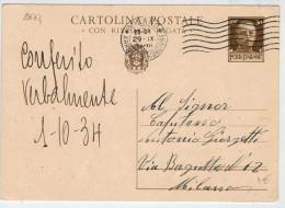 CARTOLINA  POSTALE   19374      (USATA) - 1900-44 Vittorio Emanuele III