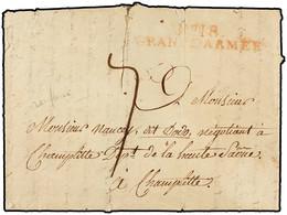 """1808. """"AU CAMP PRES BRIEG SILESIE A 40 KM DE BRESLAU (POLONIA). MARCA """"Nº 18/GRANDE ARMÉE"""" EN ROJO. MUY RARA. - Sellos De La Armada (antes De 1900)"""