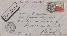 LETTRE MADAGASCAR. 27 7 37. VIA BROCKEN HILL. MAHANDRO POUR LA FRANCE / 2 - Brieven En Documenten
