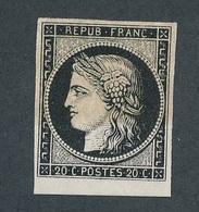 """BZ-31: FRANCE: Lot """"CERES"""" Avec N°3 NSG Bord De Feuille (curieusement Bicolore) - 1849-1850 Ceres"""