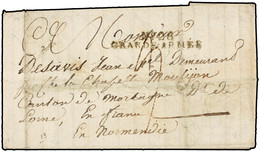 "1813. LEIGNITZ (POLONIA) A FRANCIA. FRANCE. MARCA ""Nº 26/GRANDE ARMÉE"" EN NEGRO. FUERTES PLIEGUES DE ARCHIVO. - Sellos De La Armada (antes De 1900)"