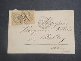 FRANCE - Enveloppe De Paris Pour Belley En 1869 Oblitération étoile 17 Sur Type Napoléon En Paire  - L 15210 - 1849-1876: Période Classique