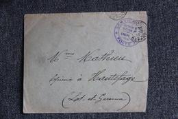 Guerre 1914 -18 : Lettre En FM - De PARIS Vers HAUTEFAGE . - Guerre De 1914-18