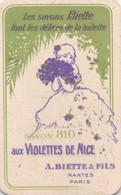 Les Savons Biette Aux Violettes De Nice Calendrier 1921 Au Verso  PRIX FIXE - Cartes Parfumées