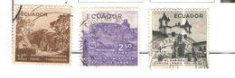Ecuador PA 1956 Scene E Vedute    Scott.C292+295+296 See Scans On Scott.Page - Ecuador
