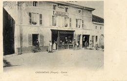 CPA - CHENIMENIL (88) - Aspect Du Quartier Du Café-Tabac-Broderies Au Début Du Siècle - Autres Communes