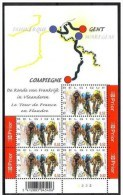 Belgique-TOUR DE FRANCE.2007-BLOC 5timbres-CYCLISME-CYCLING-RADRENNEN-CICLISMO - Bélgica