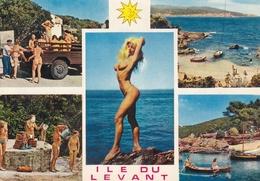 CPSM   Représentant Plusieurs Vues De L' ILE Du LEVANT  (83)    //  TBE - Nudi Adulti (< 1960)