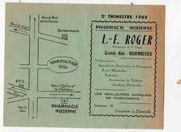 Noirmoutier -passage Du Gois  (85 Vendée) Horaire Des Marées  2e Trimestre 1965 (PPP8038) - Europe