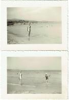 Foto/Photo. Pin Up/Femme En Maillot. Majorque, Palma Nova. 1955. Lot De 2 Photos. - Pin-Ups