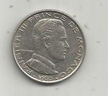 Monnaie , MONACO , 1 Franc  ,  RAINIER III , 2 Scans , 1960 - Monaco