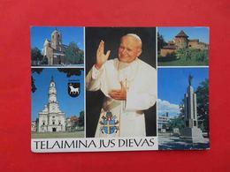 LITHUANIA 1993 Pope John Paul II In Lithuania. Multiview Postcard. - Lituanie