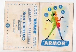 (Mazamet (81 Tarn) GOURSAUD Calendrier 1956 Pâte ARMOR  (PPP8039) - Calendars