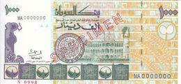 SUDAN 1000 DINARS 1996 P-59 SPECIMEN UNC */* - Sudan