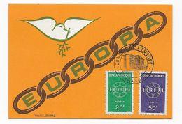 Lotmma CPA Cachet Conseil De L' Europe Europa 1959 1er Jour FDC - 1959