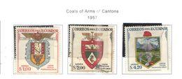 Ecuador PA 1957 Arms Cantoni Scott.C316/318 See Scans On Scott.Page - Ecuador