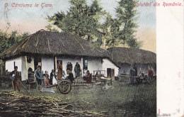 Salutari Din Romania O Cârciuma La Tara Circulée En 1906  Voir Verso - Romania