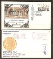 Etats-Unis - 1983/71 - First Open Air Post Office à St Peterburg/Fa - Czechopex - Honoring American Indian - Chicago - Schmuck-FDC