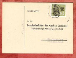 Karte, EF Adam Riese, Gueglingen Nach Stuttgart 1959 (48725) - Storia Postale