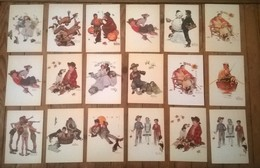 Lot De 18 Cartes Postales Norman ROCKWELL / - Peintures & Tableaux