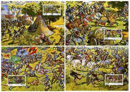 4 Maximumkarten 2010 PP Schlacht Bei Murten, Murtenpanorama / Battle / Bataille / Battaglia - Cartoline Maximum