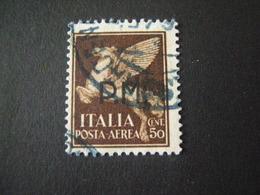REGNO -1942,  Sass. N. 14, POSTA MILITARE P. A., Cent 50 Bruno, Usato Garantito - 1900-44 Vittorio Emanuele III
