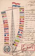 PARAGUAY QSL ZP3AC RUEDA DEL OESTE. WITH FLAGS. ASUNCION, TIMBRES ARRANCADOS. -TBE-BLEUP - Radio-amateur