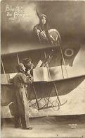- Themes - Ref-A470- Guerre 1914-18- Patriotique - Oiseau De France - Avion - Aviateur - Aviation - Mitraillette - - Patriotiques