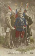 - Themes - Ref-A468- Guerre 1914-18 - Patriotique - Les Alliés - Russie Et Angleterre - Drapeaux - - Patriotiques
