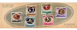 1956  Pologne Jeux Olympiques De Melbourne 1956, Carnet Souvenir 871 / 876 - Sommer 1956: Melbourne