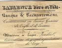 1831 RARE ENTETE LAURENCE PERE ET FILS BANQUE RECOUVREMENTS COMMISSIONNAIRE Pour FAURE ST PERAY V.SCANS - 1800 – 1899