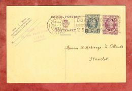 P 100 Koenig Albert, MS Liege Dover-Ostend.., Nach Stavelot 1927 (48729) - Ganzsachen