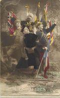 - Themes - Ref-A467- Guerre 1914-18 - Patriotique - Les Alliés - Drapeaux - Carte Bon Etat - - Patriotiques