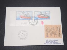 """SAINT PIERRE ET MIQUELON - Enveloppe Pour San Marin Avec étiquette """" Non Réclamé """" En 1988 - L 15252 - Lettres & Documents"""