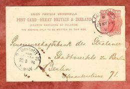 P 26 Koenigin Viktoria, Zudruck Bank Of Australasia, London Nach Berlin, Bestellgangstempel 1894 (48733) - Briefe U. Dokumente