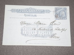 CHILI - Entier Postal Surchargé De Santiago Pour Paris En 1910 - L 15259 - Chile