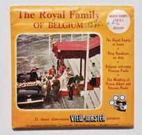 VIEW-MASTER : The Royal Family Of Belgium / La Famille Royale Belge, 1959 / Baudouin, Albert, Paola - Stereoscoopen