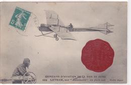 Quinzaine D'Aviation De La Baie De Seine Latham Sur Antoinette En Plein Vol - France