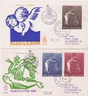 SAN MARINO - 5 12 1968  2  FDC VENETIA NATALE VIAGGIATE - Christmas